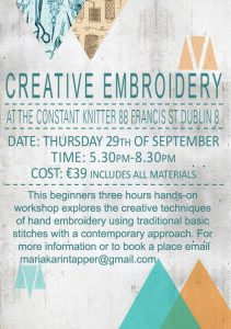 Embroidery poster SEPTEMBER 2016